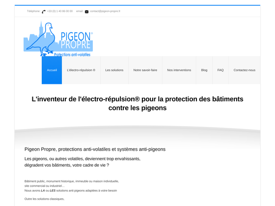 image du site http://www.pigeon-propre.fr/