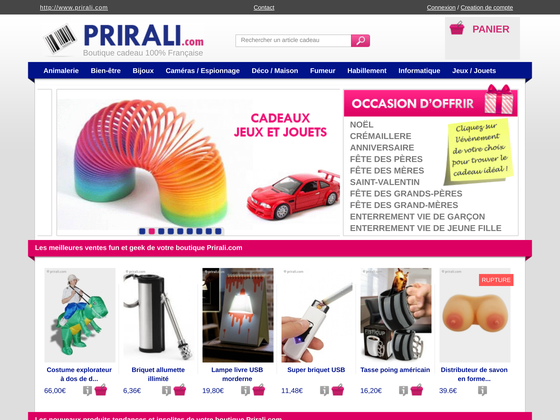 image du site http://www.prirali.com