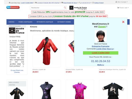 image du site https://meskimonos.fr