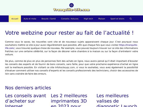 image du site https://tranquille-life.com/