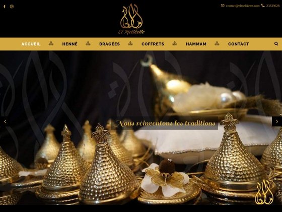 image du site https://www.elmelikette.com/