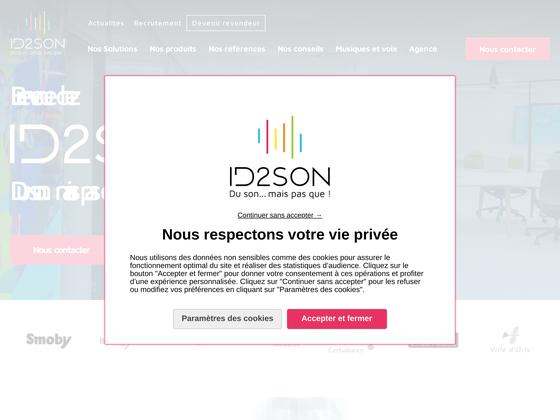 image du site https://www.id2son.fr/