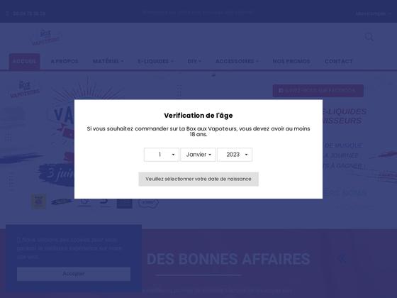 image du site https://www.laboxauxvapoteurs.fr