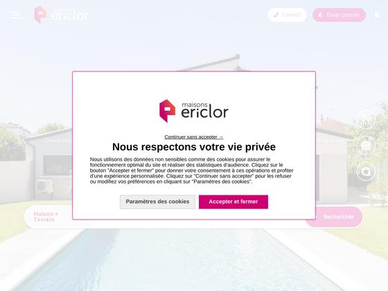 image du site https://www.maisons-ericlor.com/