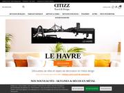 Citizz : Silhouettes de villes en métal découpé