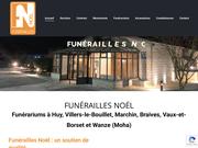 Funérarium à Marchin près de Modave, Tinlot, Clavier: Funérailles Noël