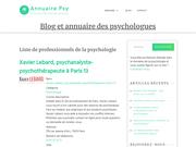 Blog et annuaire de psychologues